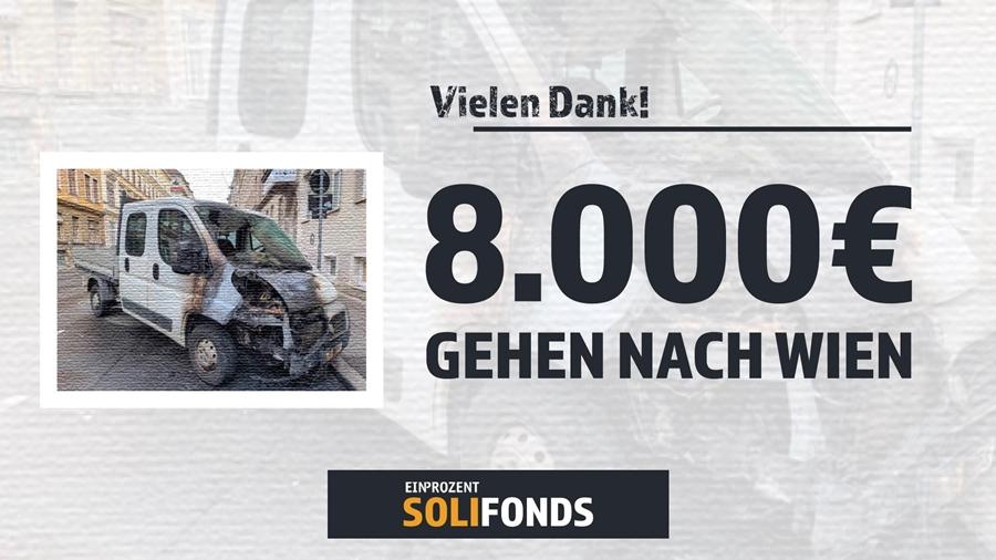 Spendenkampagne nach Brandanschlag in Wien